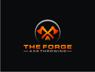 The Forge Axe Throwing logo design