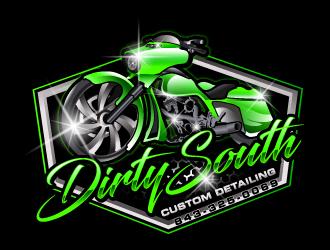 Dirty South Custom Detailing logo design by LucidSketch