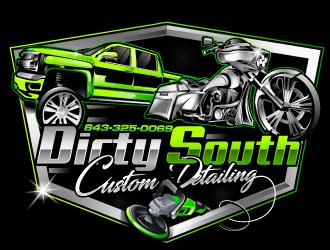 Dirty South Custom Detailing logo design by Suvendu