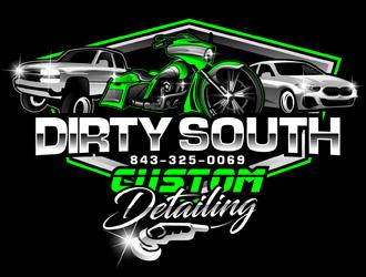 Dirty South Custom Detailing logo design by DreamLogoDesign