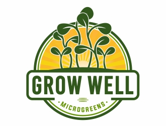 Grow Well Microgreens logo design