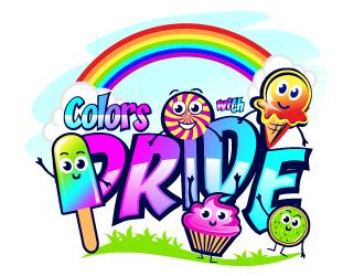 Colors with PRIDE logo design