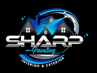 Sharp Painting  logo design