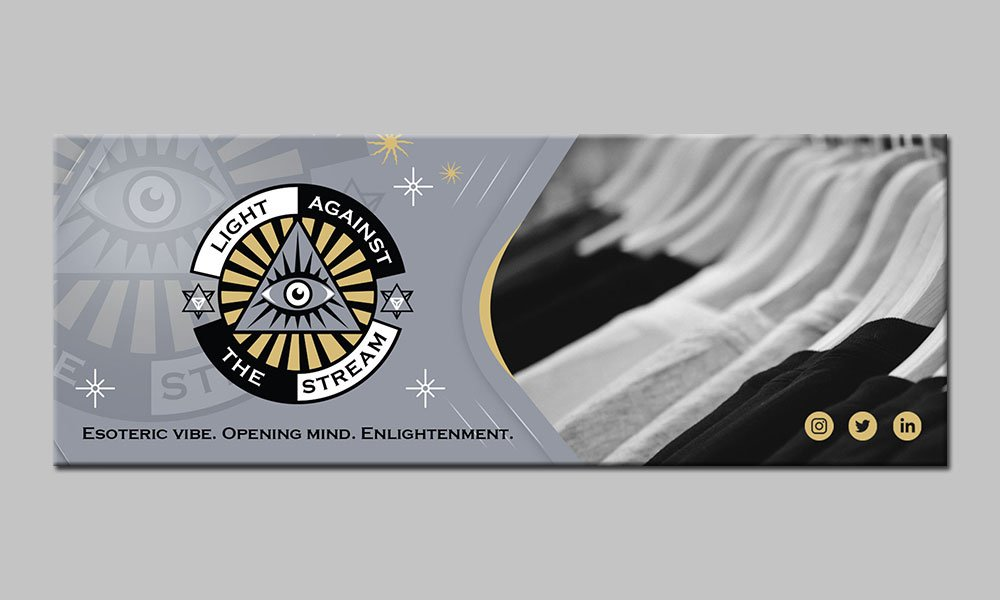 Against the Stream logo design by yondi