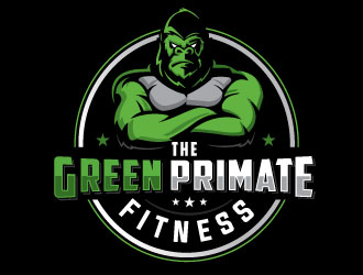 The Green Primate Fitness logo design