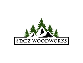 Statz Woodworks logo design