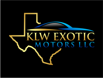 KLW EXOTIC MOTORS LLC  logo design