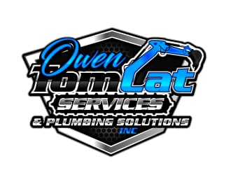 TomCat Services & Owen Plumbing Solutions, Inc. logo design