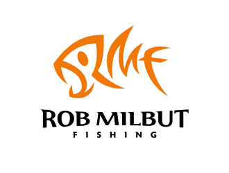 Rob Milbut Fishing logo design