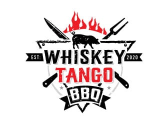 Whiskey Tango BBQ logo design