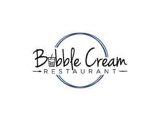 Bubble Cream Restaurant logo design