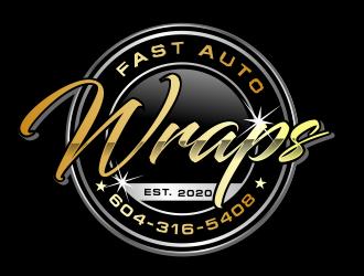 Fast Auto Wraps logo design