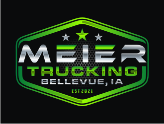 Meier trucking llc logo design
