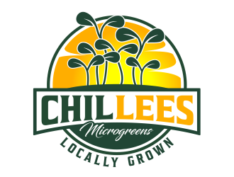 ChilLees Microgreens logo design