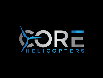 Core Helicopters logo design winner