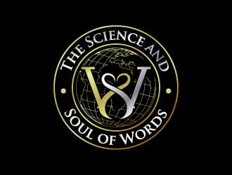 The Science and Soul of Words logo design