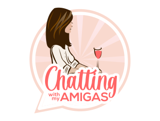 Chatting with My Amigas logo design
