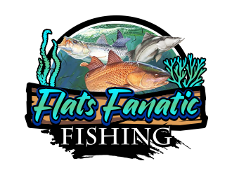 Flats Fanatic Fishing  logo design winner