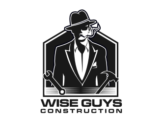 Wise Guys Construction logo design by ndndn