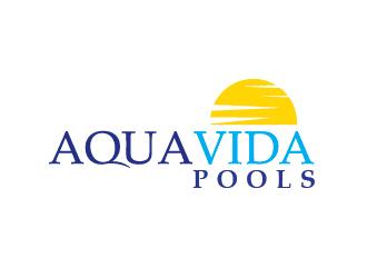 AquaVida Pools logo design