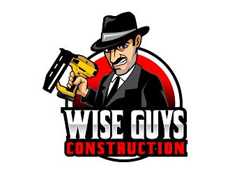 Wise Guys Construction logo design by haze