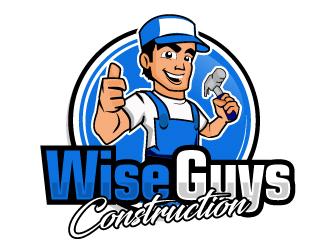 Wise Guys Construction logo design by ElonStark
