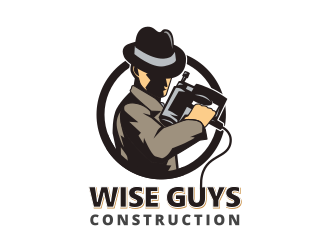 Wise Guys Construction logo design by gomadesign