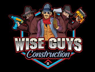 Wise Guys Construction logo design by DreamLogoDesign