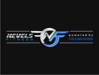 NEVELS FITNESS powered by CHAMPIONS ELITE Logo Design