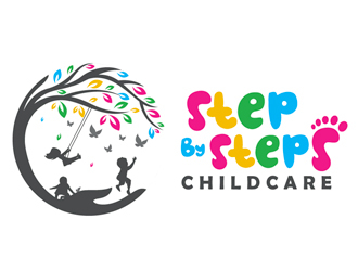 Step By Steps Childcare  logo design winner