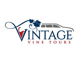 Vintage Vine Tours logo design