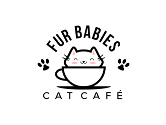 Fur Babies Cat Cafe logo design