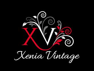 Xenia Vintage logo design