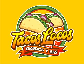 Los Tacos Locos  logo design by haze
