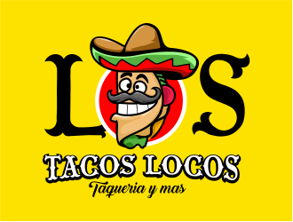 Los Tacos Locos  logo design by 6king