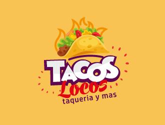 Los Tacos Locos  logo design by fawadyk