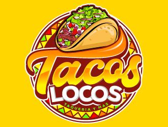 Los Tacos Locos  logo design by Suvendu