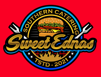 Sweet Ednas Southern Catering logo design by DreamLogoDesign