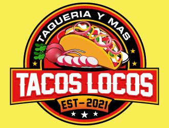Los Tacos Locos  logo design by LucidSketch