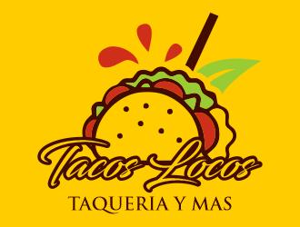 Los Tacos Locos  logo design by Gwerth