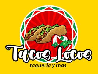 Los Tacos Locos  logo design by LogoInvent