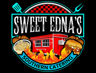 Sweet Ednas Southern Catering logo design by LucidSketch