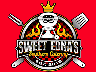 Sweet Ednas Southern Catering logo design by Suvendu