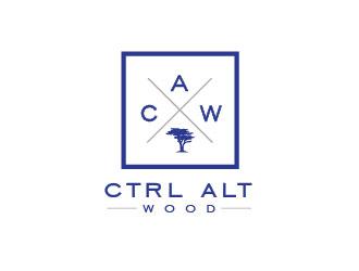ctrl alt wood logo design