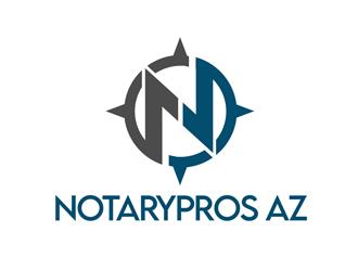 Notary Pros AZ or Notary Signing Pros  logo design by kunejo
