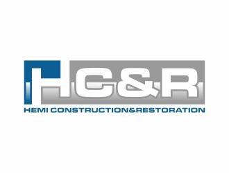 Hemi construction&restoration logo design by vostre