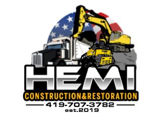 Hemi construction&restoration logo design by ElonStark