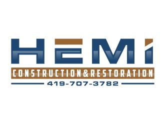 Hemi construction&restoration logo design by Arto moro