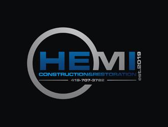 Hemi construction&restoration logo design by Rizqy