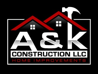 A&K Construction LLC Logo Design